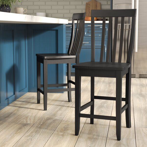 Beckman 24 Bar Stools (Set of 2) by World Menagerie