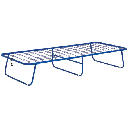 Compact Foam Frame Folding Bed in Blue by Stram