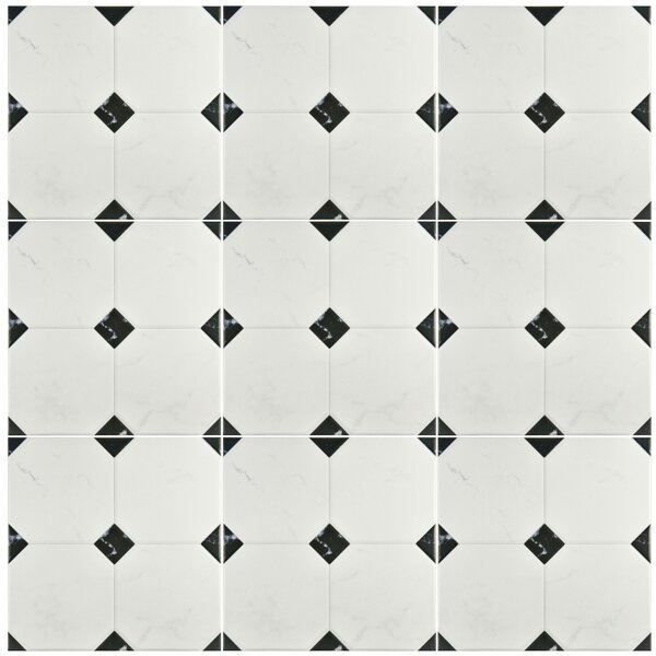 Valencia 13.12 x 13.12 Ceramic Field Tile in Marbleized Gray by EliteTile