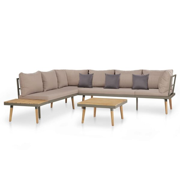 Cannes 4 Piece Sectional Seating Group with Cushions by Wrought Studio Wrought Studio