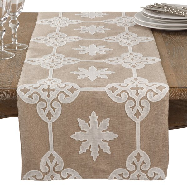 Arick Elegant Applique Everyday Cotton Table Runner by One Allium Way