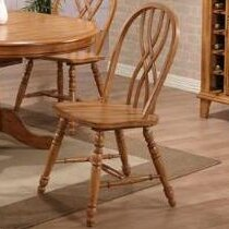 Rustic Oak Solid Wood Dining Chair (Set of 2) by ECI Furniture