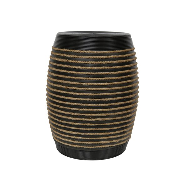 Lilyana Wood Rope Accent Table by Breakwater Bay