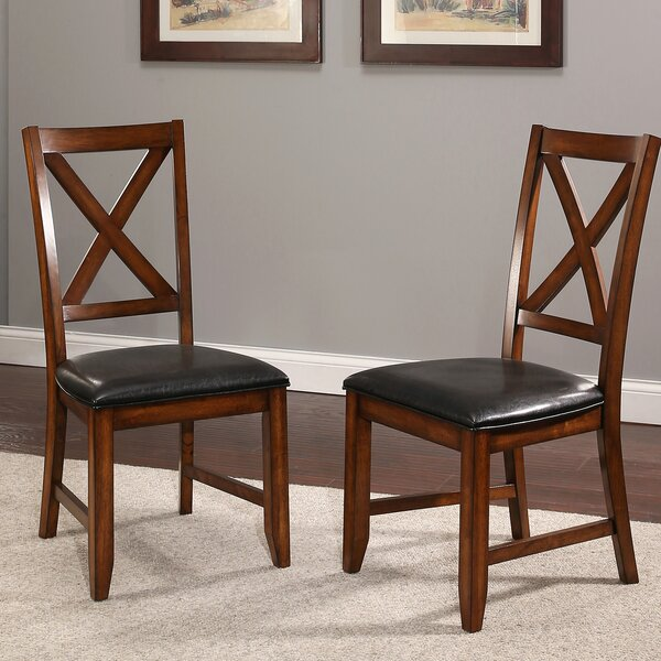 Lockwood Upholstered Dining Chair in Black (Set of 2) by Red Barrel Studio Red Barrel Studio