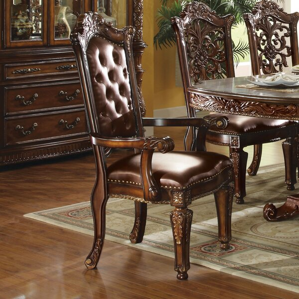 Welles Button Tufted Upholstered Dining Chair (Set of 2) by Astoria Grand