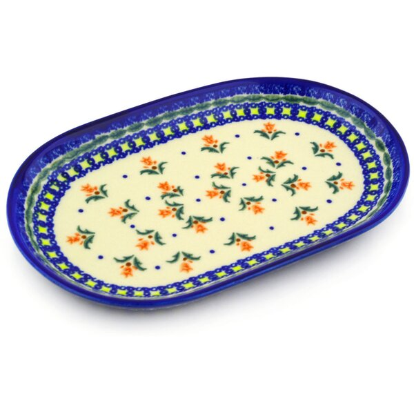Polish Pottery 9 Oval Platter by Polmedia