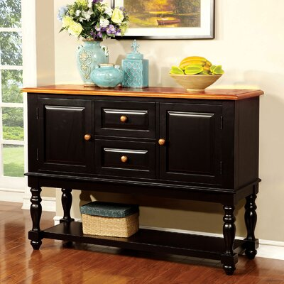 """Canora Grey Granier 52.25"""" Wide 2 Drawer Buffet Table"""