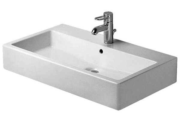 Vero Ceramic 31.5 Wall Mount Bathroom Sink with Overflow by Duravit