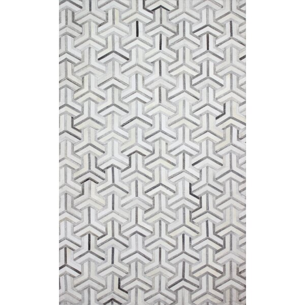 Costanza Hand-Woven Gray Area Rug by Corrigan Studio