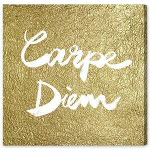 Carpe Diem Gold Textual Art Plaque by House of Hampton