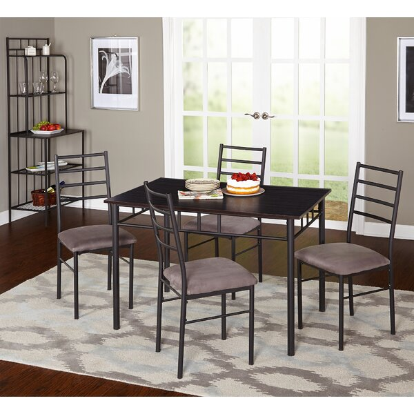 Noemi 5 Piece Dining Set with Baker's Rack by Latitude Run