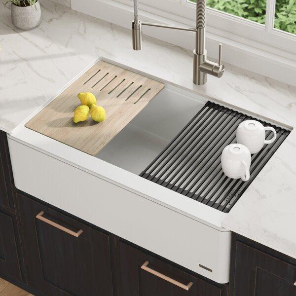Bellucci 33 L x 21 W Farmhouse/Apron Kitchen Sink