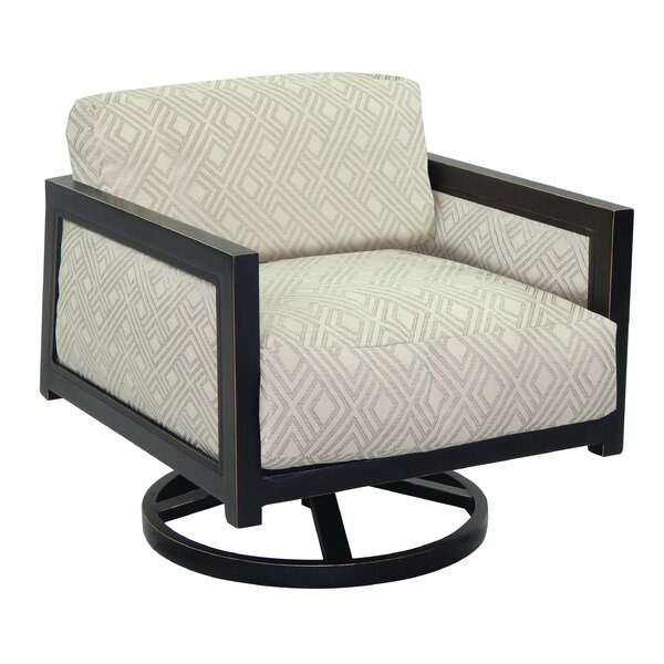 Gold Coast Swivel Rocking Chair with Cushion by Leona