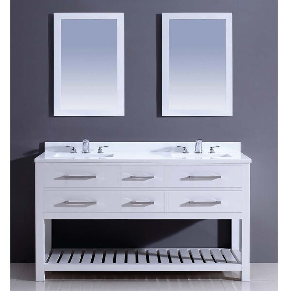 Bohemian 60 Double Vanity Set with Mirror by Dawn USA
