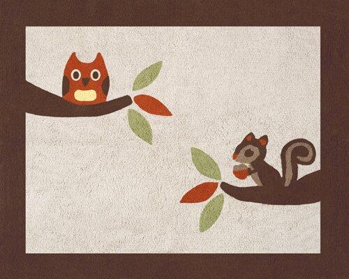 Forest Friends Brown/Beige Area Rug by Sweet Jojo Designs