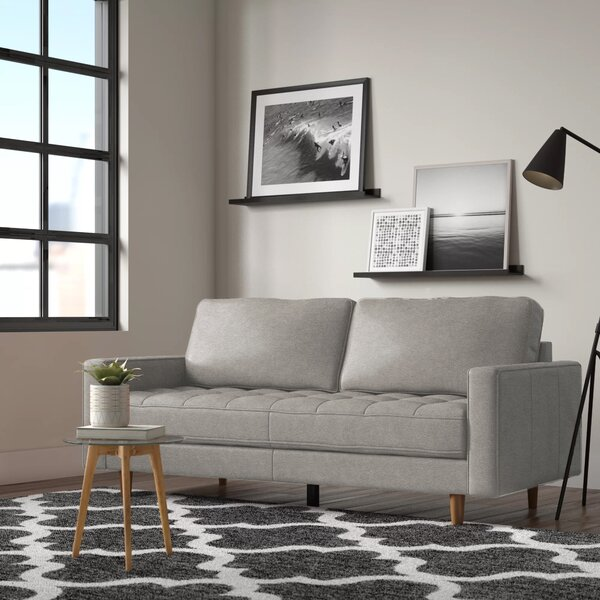 Marvelous Modern Contemporary Sofa With Chrome Legs Allmodern Caraccident5 Cool Chair Designs And Ideas Caraccident5Info