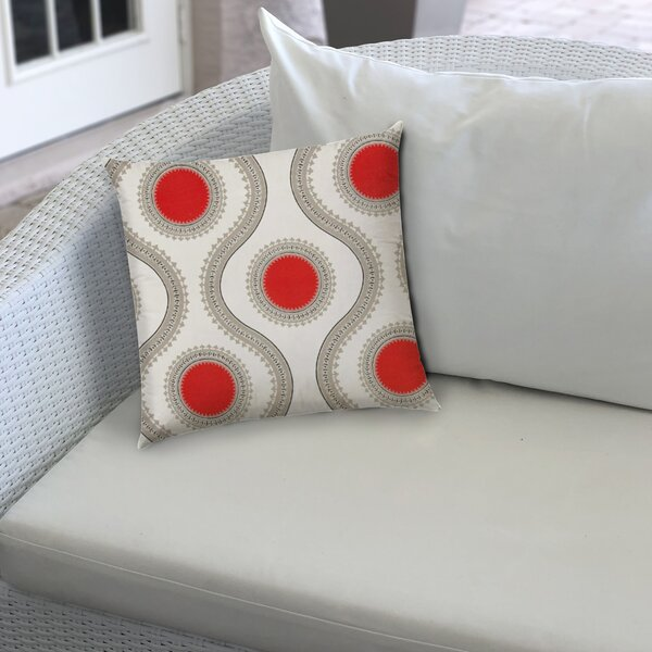 Mayson Zippered Indoor/Outdoor Geometric Throw Pillow