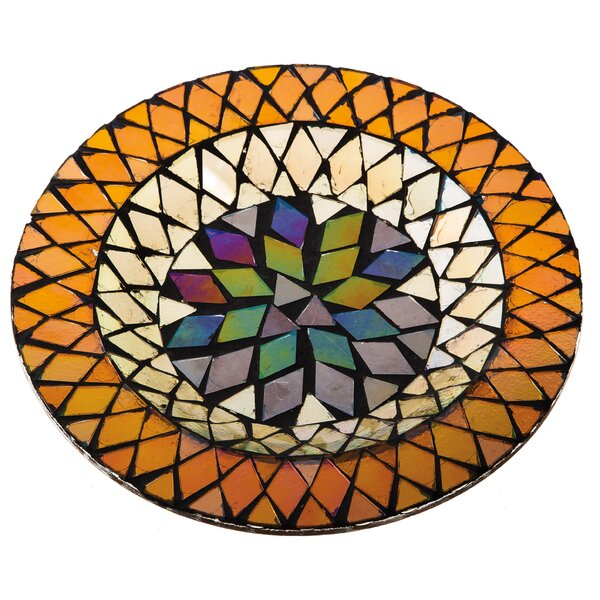 Harvest Mosaic Glass Decorative Salad or Dessert Plate by Cypress Home