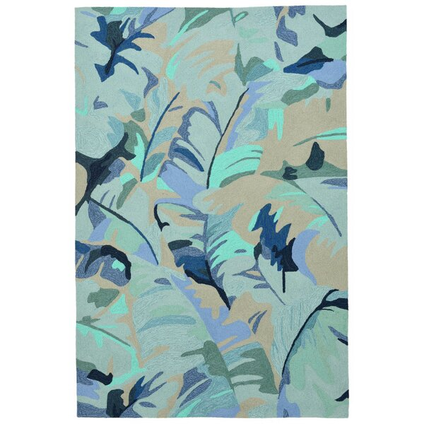 Rachael Hand-Tufted Blue Indoor/Outdoor Area Rug by Beachcrest Home