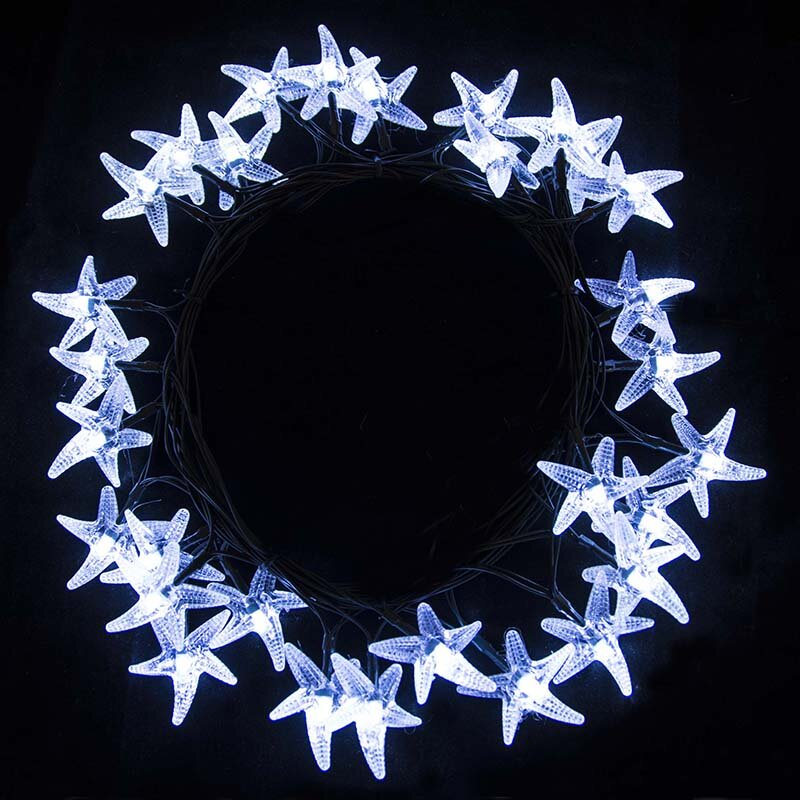 solar string lights. Perfect Lights Starfish 30 Light Solar String Lights Throughout