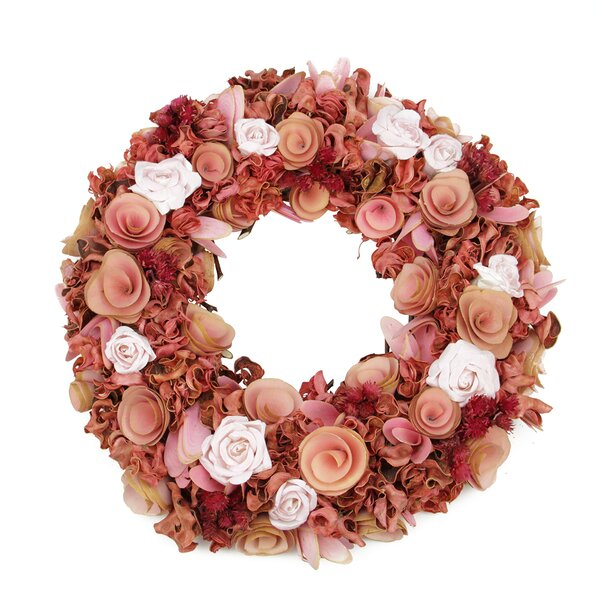 Flowers and Leaves 12.5 Floral Wreath by Northlight Seasonal