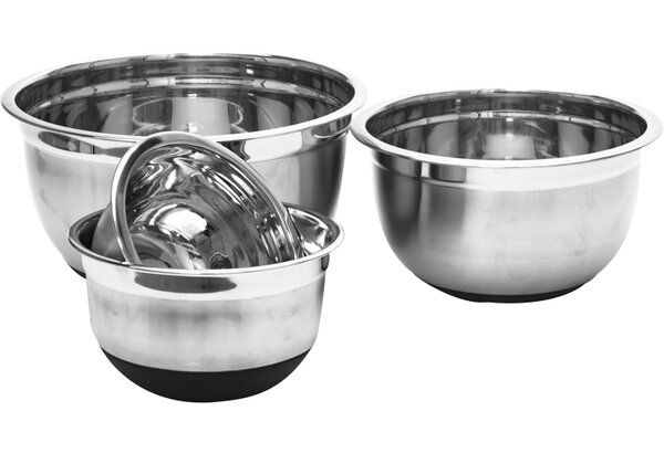 4 Piece Stainless Steel Mixing Bowl Set by Imperial Home
