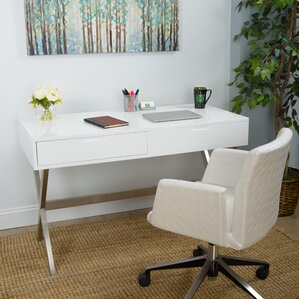 chapple desk vanity set with mirror