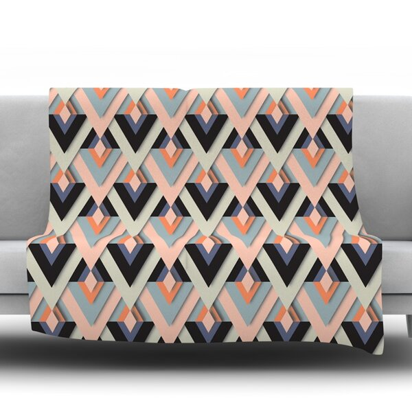 Sweet and Sharp by Akwaflorell Fleece Throw Blanket by East Urban Home