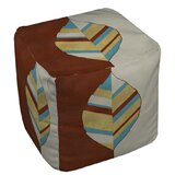 Apache Leaf Pouf Ottoman by Manual Woodworkers & Weavers