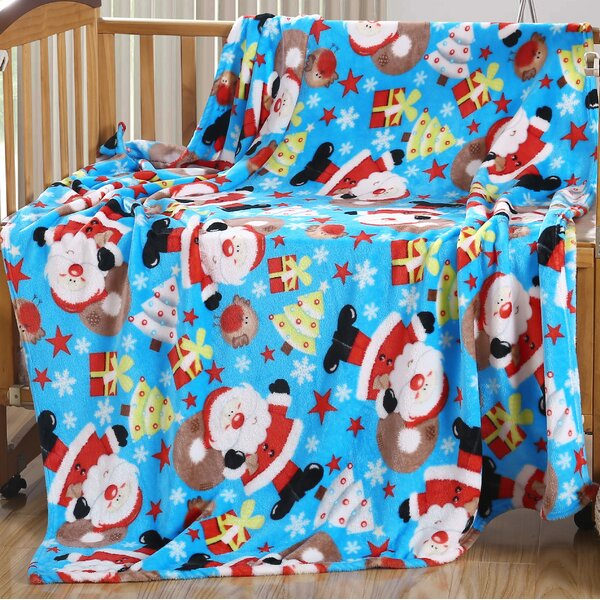 Vivian Frosty The Man Holiday Fleece Throw by The Holiday Aisle