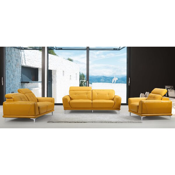 Dona 3 Piece Living Room Set by Orren Ellis