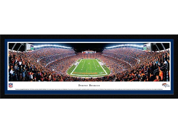 NFL Denver Broncos - End Zone Framed Photographic Print by Blakeway Worldwide Panoramas, Inc
