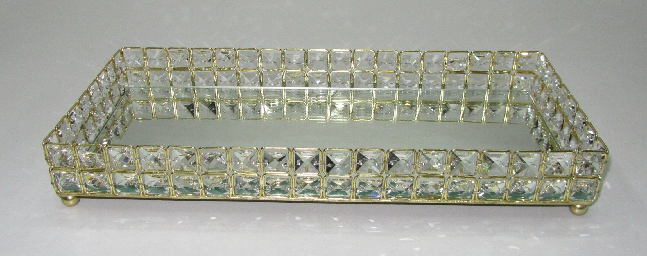 x tray size to tips mirrored vanity crystal regard with