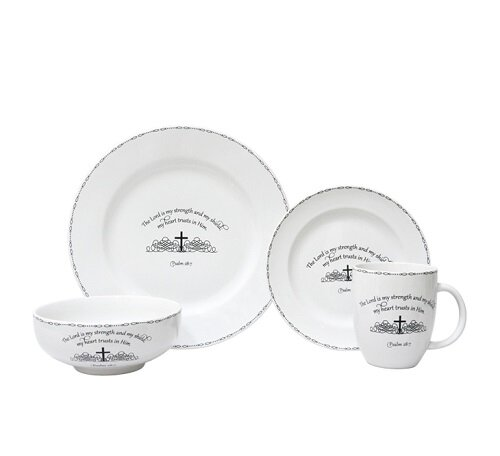 Table Graces 16 Piece Dinnerware Set, Service for 4 by 222 Fifth