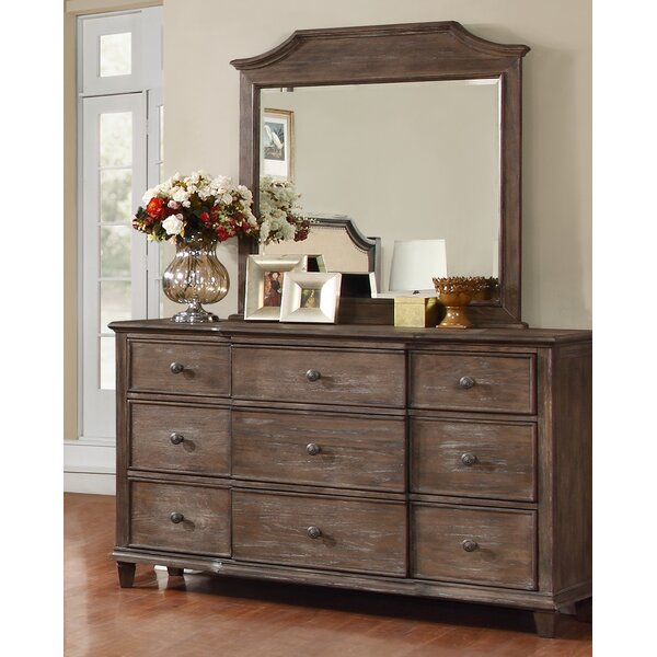 Baston 9 Drawer Dresser with Mirror by Darby Home Co