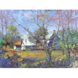 Country Colors 'Gumlog Homestead' Printing Print on Wrapped Canvas by Ashton Wall Décor LLC