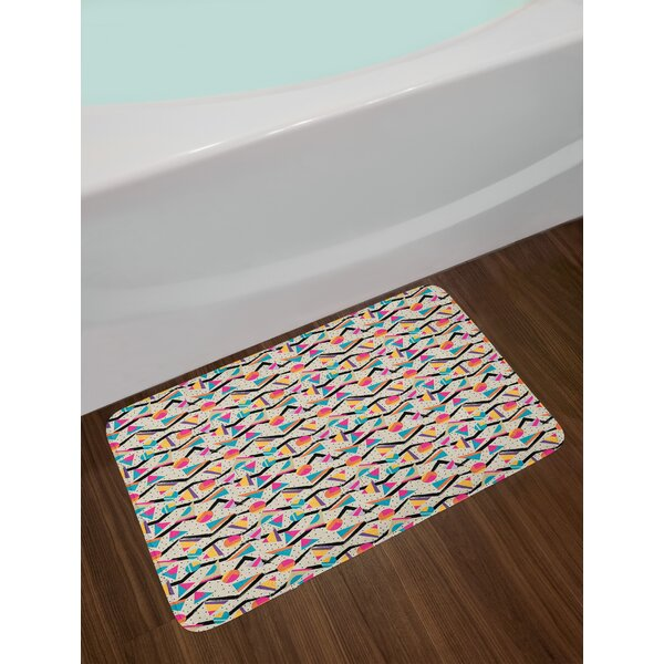 Read Reviews Doodle Winter Bath Rug By East Urban Home
