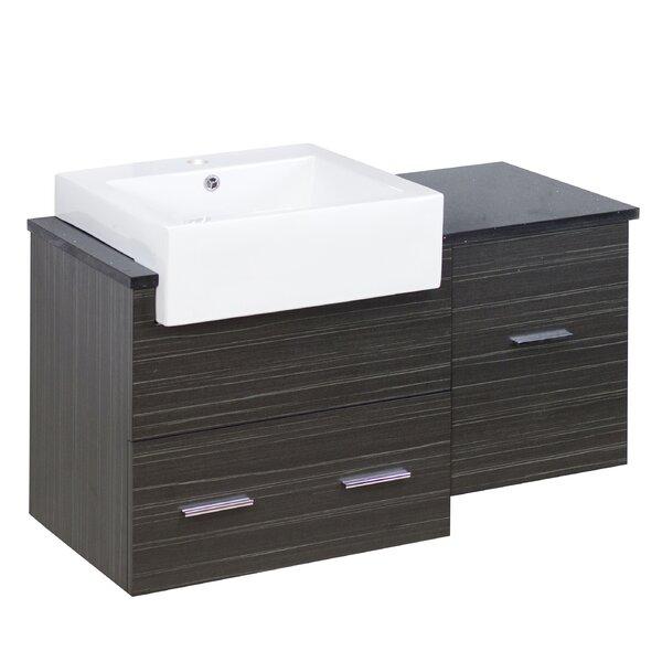 Dharmadhikari Modern Wall Mount 37 Single Bathroom Vanity Base Only