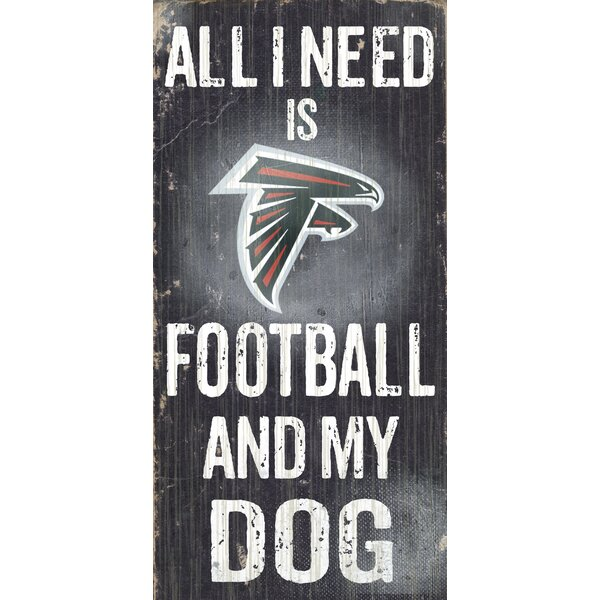 NFL Football and My Dog Textual Art Plaque by Fan