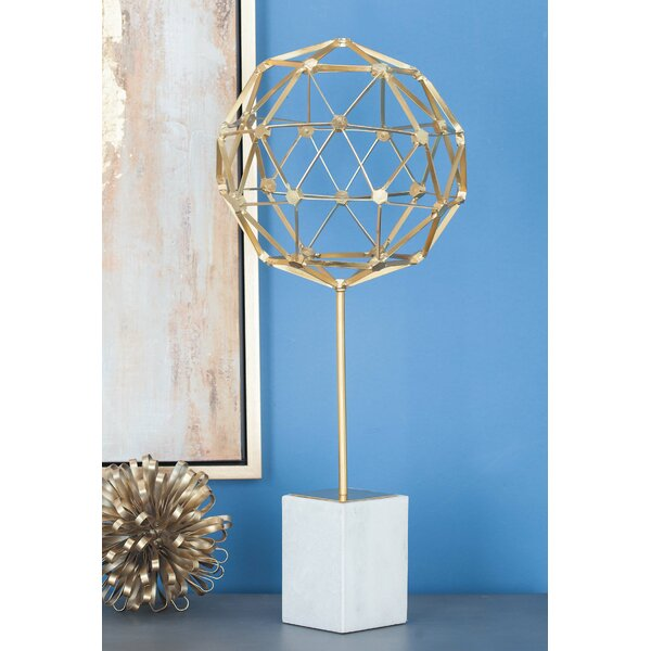 Metal Marble Sphere Sculpture by Cole & Grey
