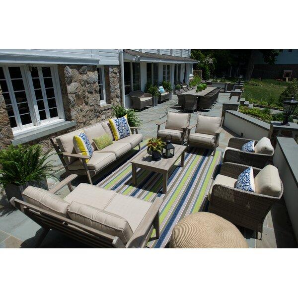 Aryanna 4 Piece Teak Sunbrella Sofa Seating Group with Cushions by Gracie Oaks
