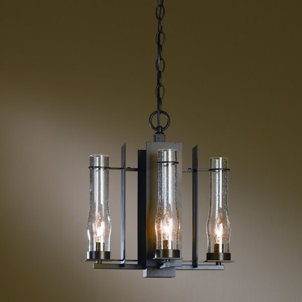 New Town 4 - Light Shaded Classic / Traditional Chandelier By Hubbardton Forge