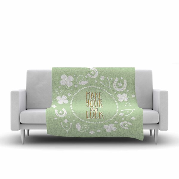 Own Luck Fleece Throw Blanket by East Urban Home