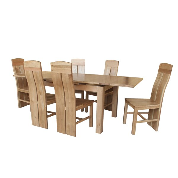 Pecor 9 Piece Extendable Dining Set by Loon Peak