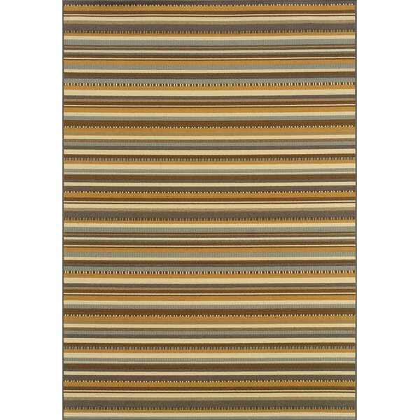 Milltown Grey/Gold Indoor/Outdoor Area Rug by Threadbind