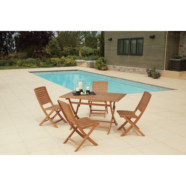 Paraiso Outdoor 5 Piece Dining Set Bayou Breeze W003077143