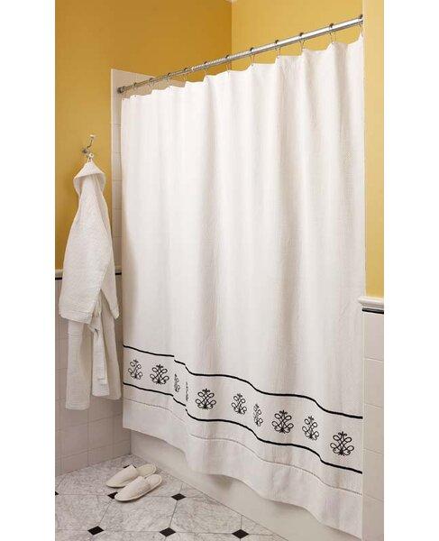 Diamond Pique Cotton Shower Curtain by Jacaranda Living