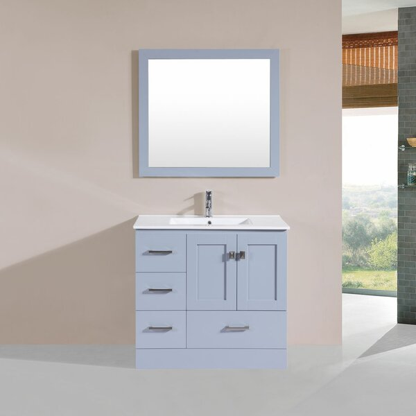Landrum 36 Single Modern Bathroom Left Side Cabinet Vanity Set by Latitude Run