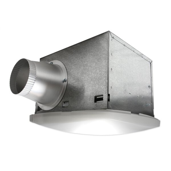 NuVent High Efficiency Bathroom Fan with Fluorescent Light by Nuvent