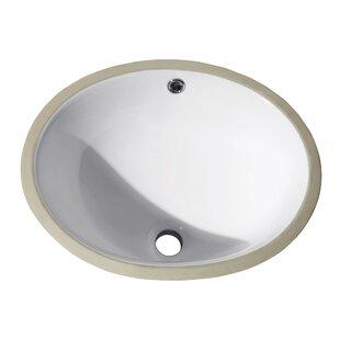 Best Reviews Ceramic Oval Undermount Bathroom Sink By Avanity